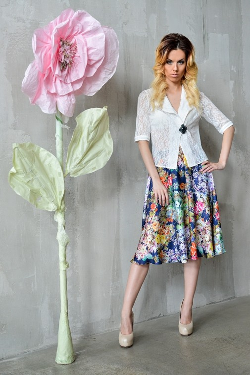 Цветочная юбка полусолнце