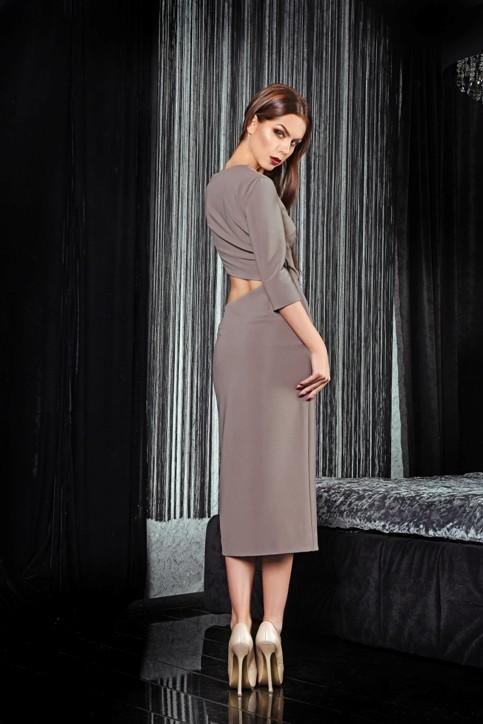 Платье с вырезом по талии
