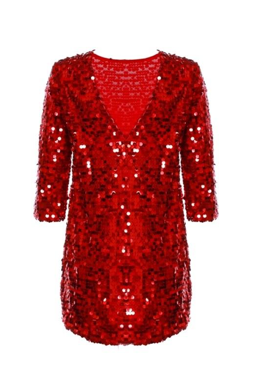 Красное платье Пайетка