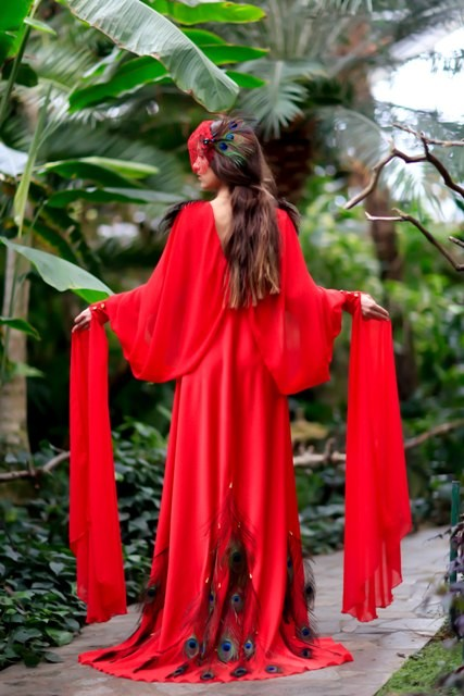 "Couture Dress ""Firebird"""