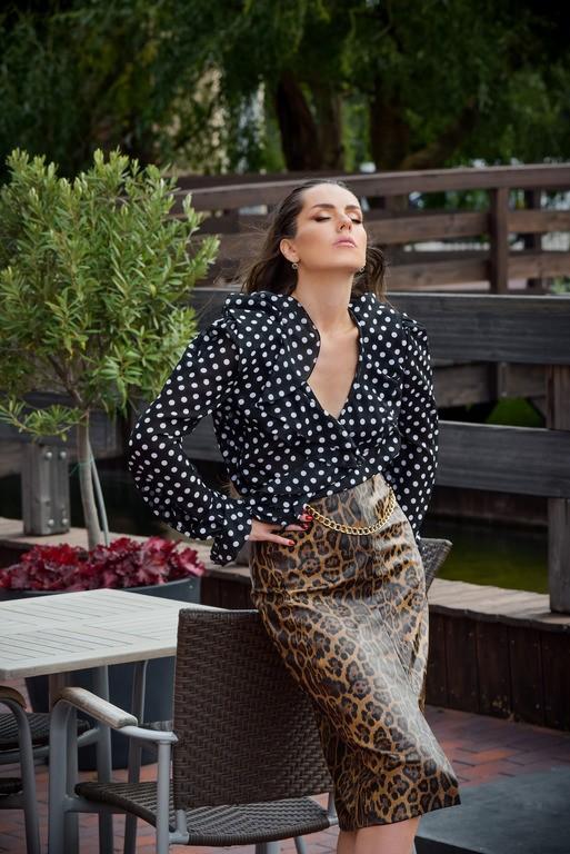 """Леопардовая юбка карандаш """"Isadora"""""""