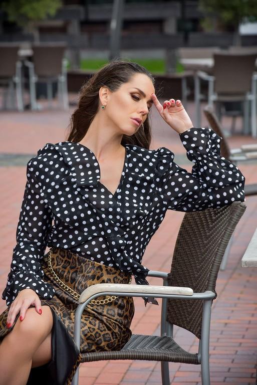 """Блуза в горох с рюшами """"Arabella"""""""